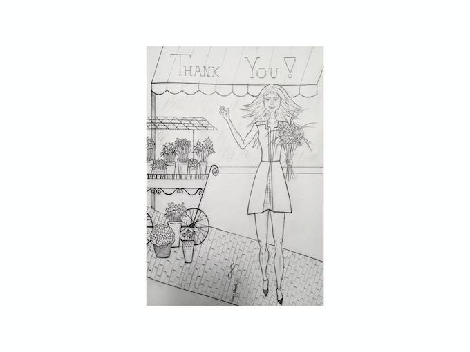 $10 Backer Level - Sending Love: Postcard with Original Sketch