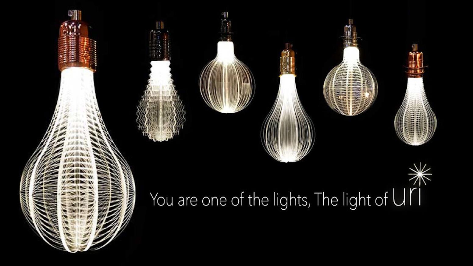 Uri led light bulb i solar system modern lamp by stephanie u2014 kickstarter