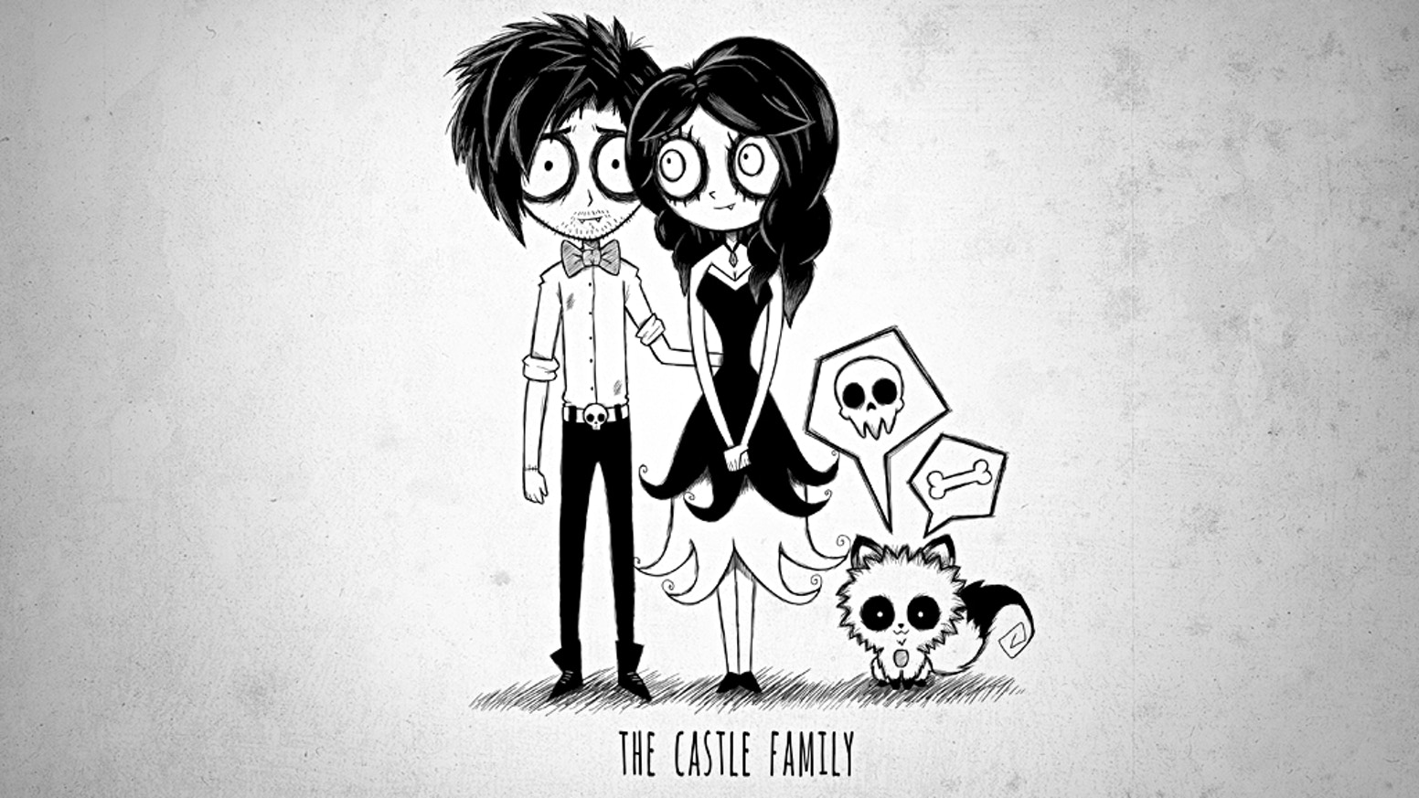 spooky family portraits stickers by luis kickstarter
