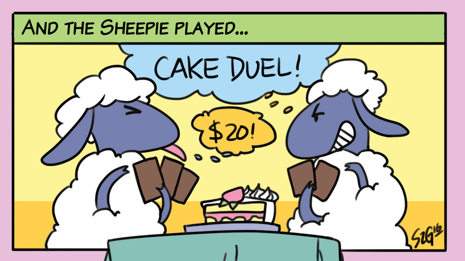 """Cakestart this deceptively simple card game for 2 players. Fight and fleece in equal measure to become the next """"King of Cakes."""""""
