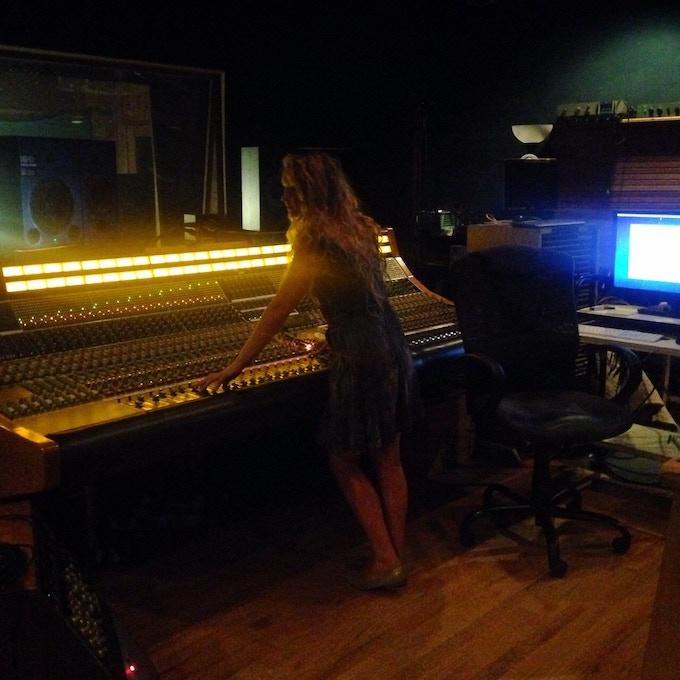 Bella Blasko (Vellum) working at Dreamland in Woodstock, NY