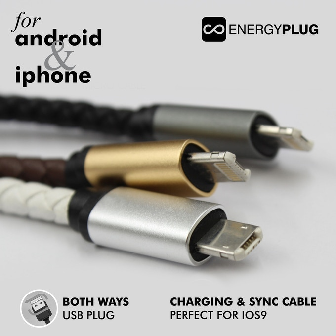Energy Plug connector which charges Apple and Android Devices alike