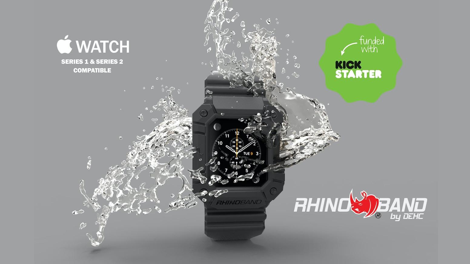 new concept 1b041 ebec3 Rhino Band for Apple Watch by DEHC — Kickstarter