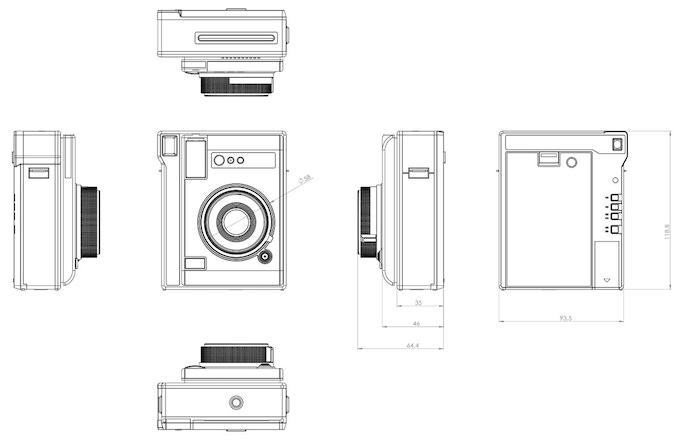 Lomo'Instant Automat: 2D Drawings