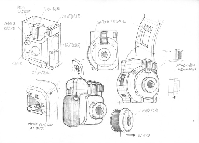 Lomo'Instant Automat: Early stage sketches