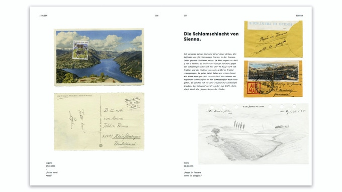 a swiss postal stamp integrated and the smallest letter ever