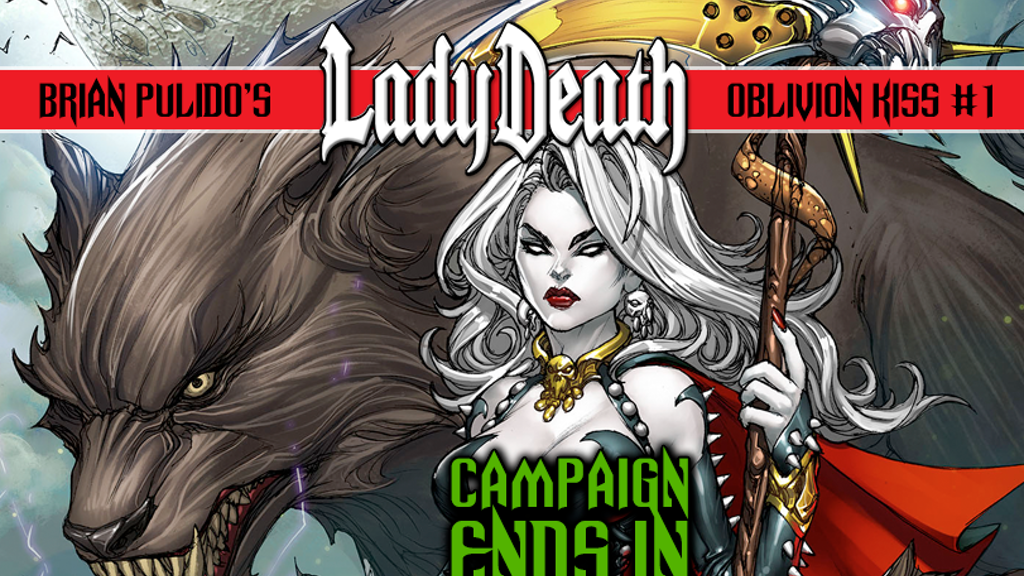 BRIAN PULIDO'S NEW GRAPHIC NOVEL: LADY DEATH: OBLIVION KISS! project video thumbnail