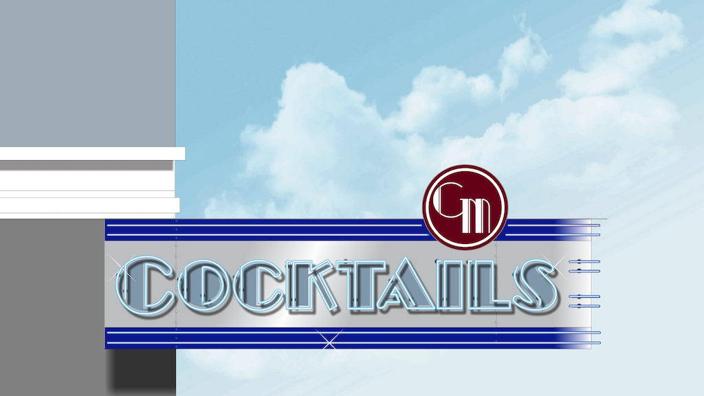 """Neon """"Cocktails"""" Sign for Stookey's Club Moderne project video thumbnail"""