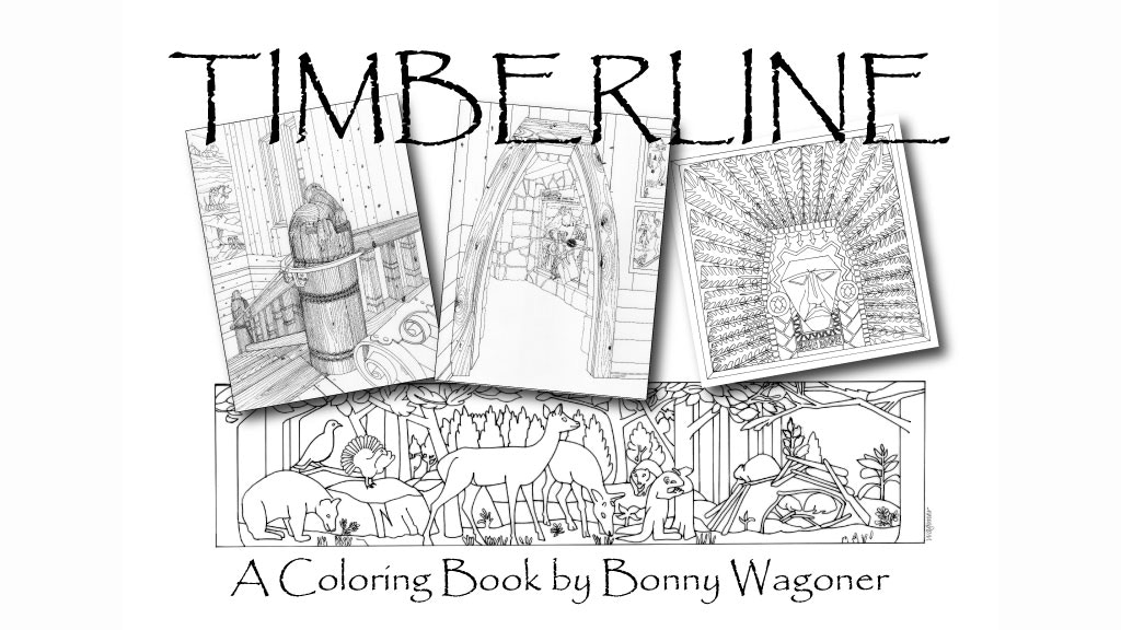 10 ticks calculator coloring book pages | TIMBERLINE LODGE: a coloring book by Bonny Wagoner ...