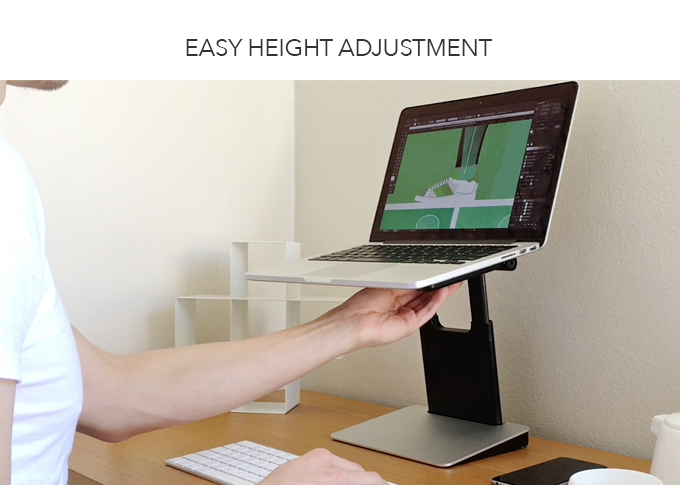 We Know That Everybody Is Diffe So The Tiny Tower Adjusts Your Screen Quickly And Easily To Right Height For You Work Comfortably