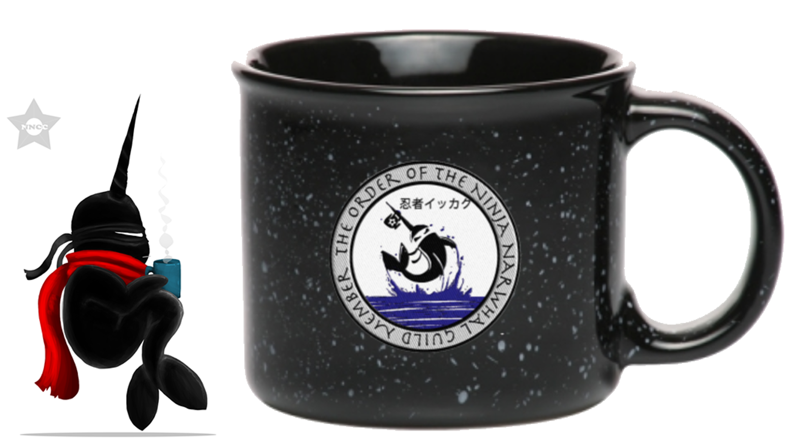 ninja narwhal coffee company 13oz campfire coffee mug by michele gutierrez kickstarter. Black Bedroom Furniture Sets. Home Design Ideas