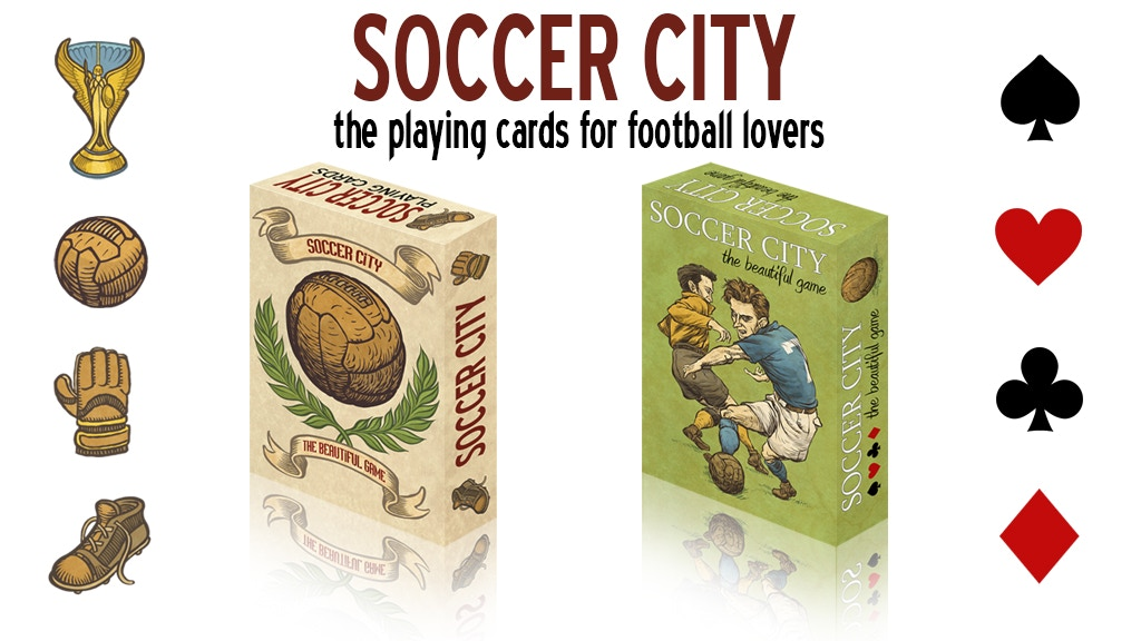 Project image for Soccer City, the playing cards for football lovers.