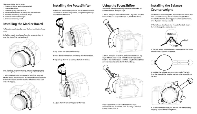 Click to view full size included instruction manual