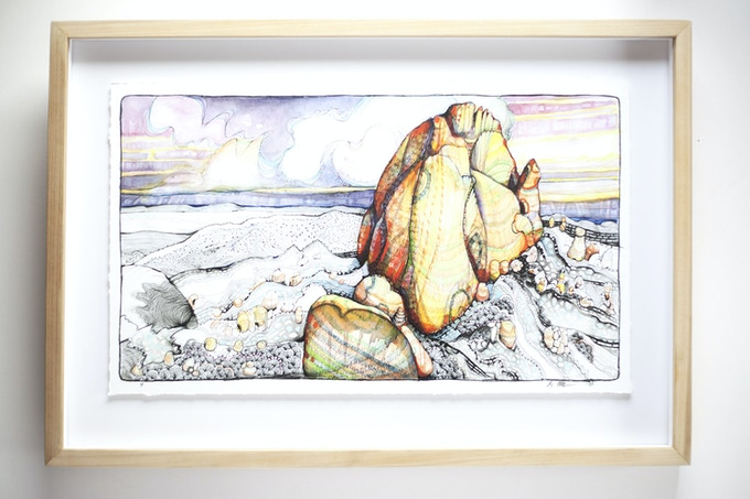 example of Muderlak Art Framed original illustration