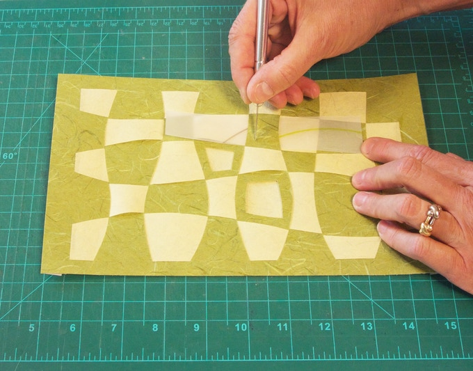 This isn't your average paper weaving.