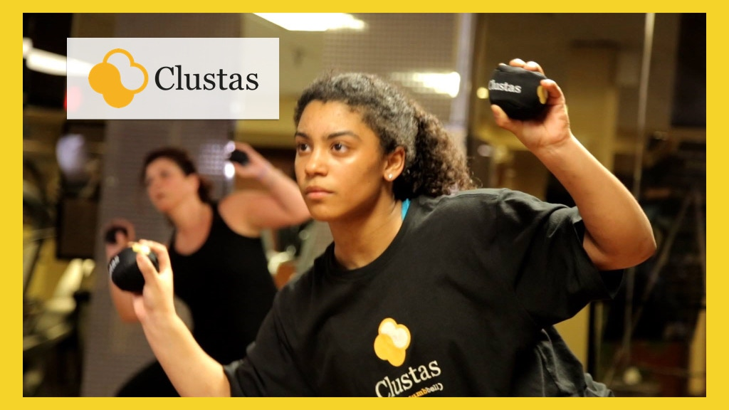 Clustas: A soft portable fitness solution in a bag. project video thumbnail
