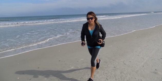 Beach run with Clustas