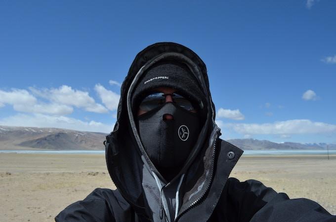 Ash in the cold Altai Mountain region