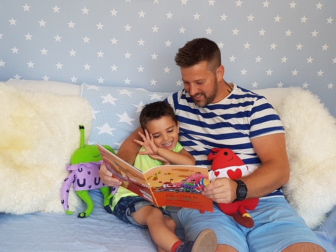 I love reading the book to my son Ethan – he's the one who inspired me to write it!