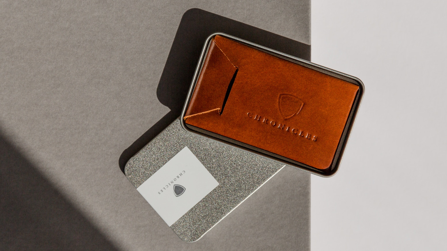 Excellent Crafted Chronicles - Hand crafted leather card sleeve by Peter  XB68