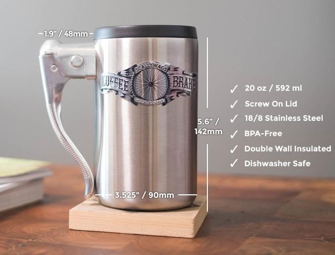 coffee brake mug bicycle brake lever handle by ben clark kickstarter. Black Bedroom Furniture Sets. Home Design Ideas