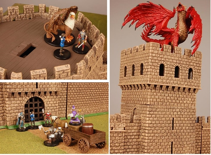 Wizkids Pathfinder figures with MBA castle!