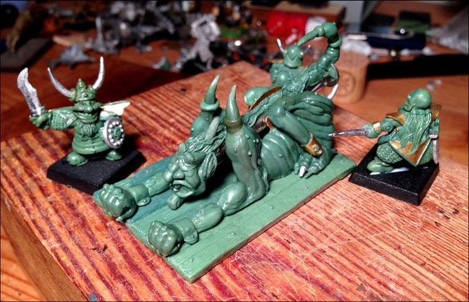 Chaos Dwarf Ass Cannon set original sculpt.