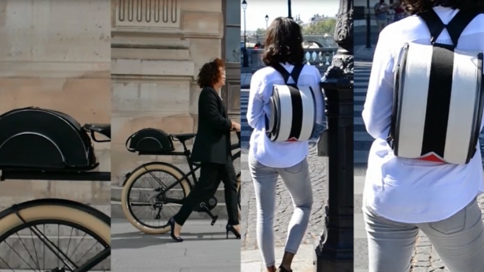 A cycling bag designed for urban cyclists and pedestrians. Walk with a backpack and cycle with it like a panier that reflects light !