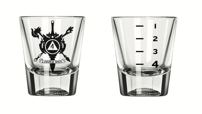Four-Sided Shot Glass - 1 oz - $8 Add-On