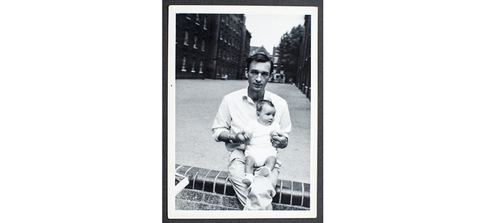 John (with me) - Outside Polygon Buildings Somers Town - 1967