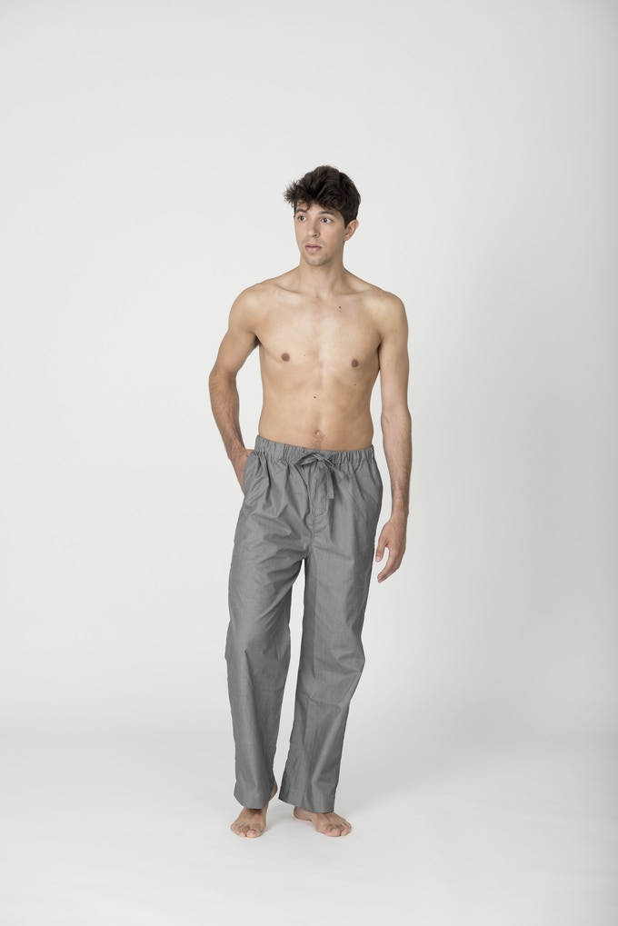 Men's Grey Pyjama Trouser