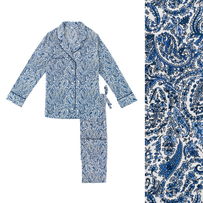 Women's Paisley Pyjama Shirt and Trouser