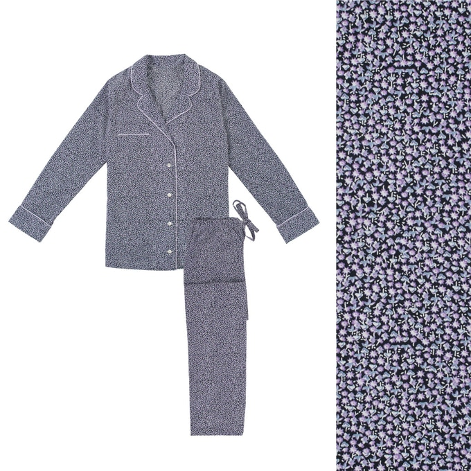 Women's Purple Pyjama Shirt and Trouser