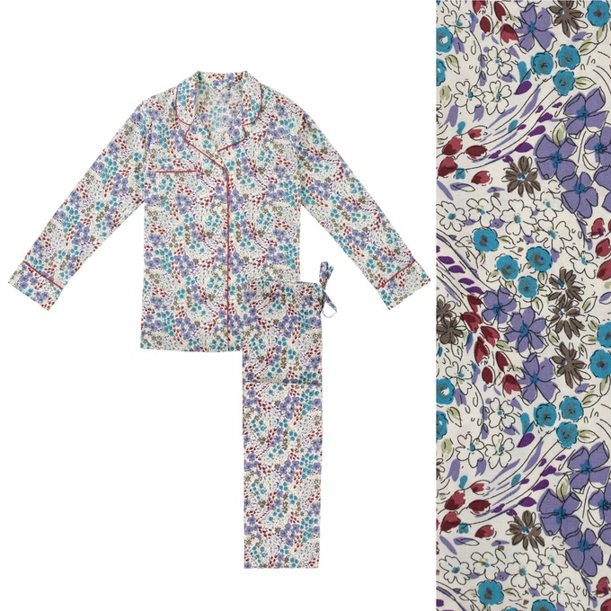 Women's Floral Swirl Pyjama Shirt and Trouser