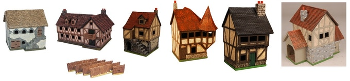 Includes all six buildings and fence set!