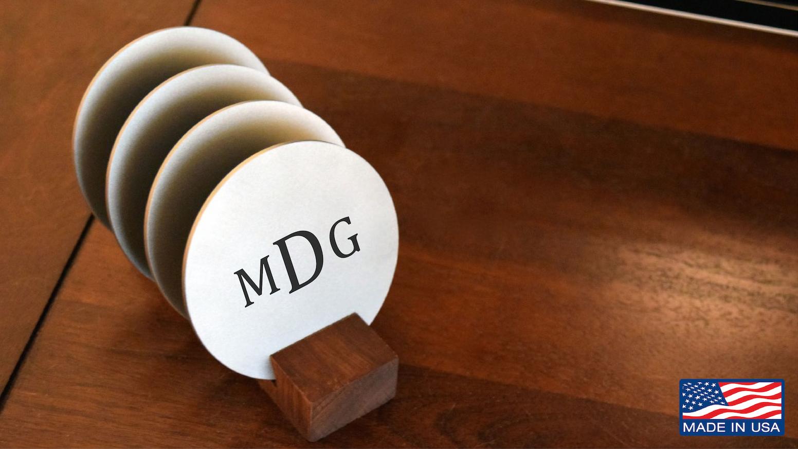 Titanium Drink Coasters - Minimal Modern Design by Taftware