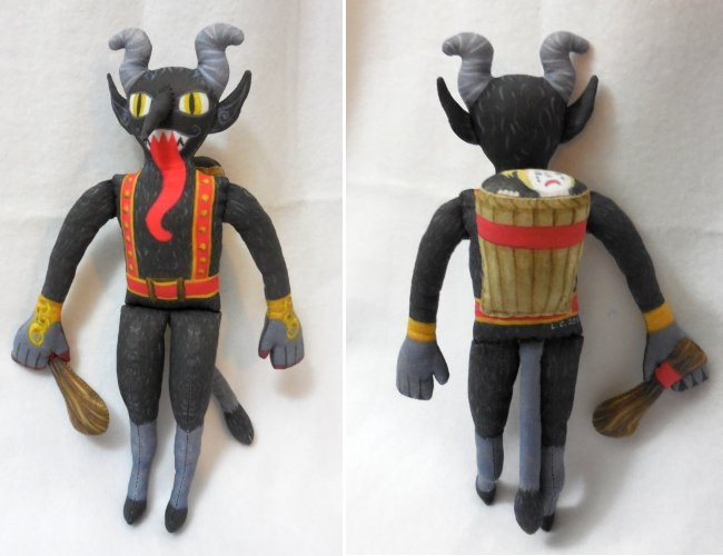 Front and back of Krampus prototype