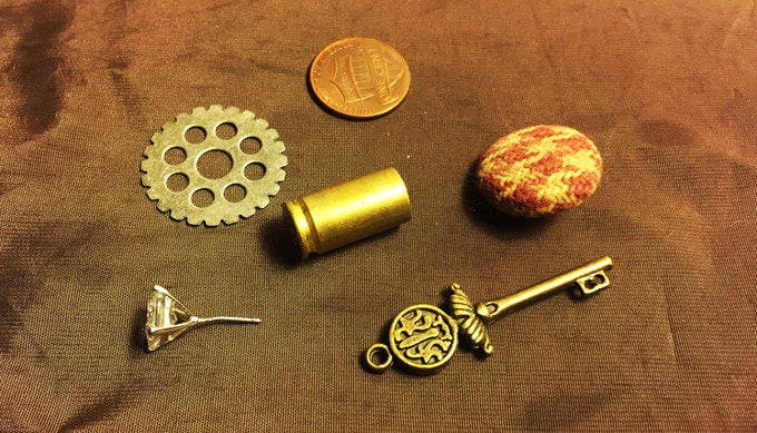 """""""Found object"""" game pieces from Moriarty's Web (Deluxe Version)"""