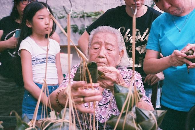 Dumpling class by 91 year old Ah Ma