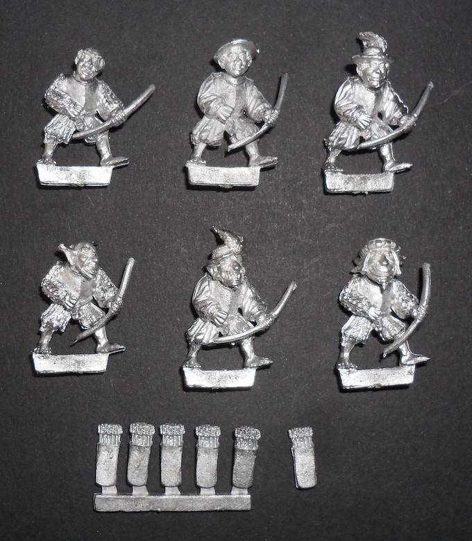 3 Goblin & 3 Halfling Archers (assembled)