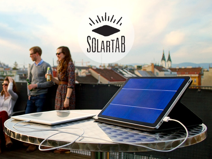 Solartab: Premium solar chargers for phones and tablets. Fully optimized for Apple iPhone, iPad and Samsung tablets and smartphones.