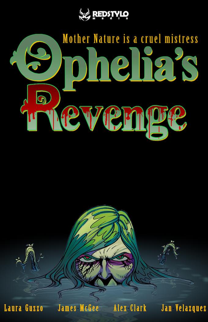 Ophelia's Revenge cover, art by Alex Clark and Jan Velazquez