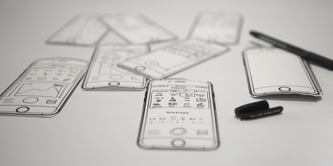 Latest iteration of app screen sketches