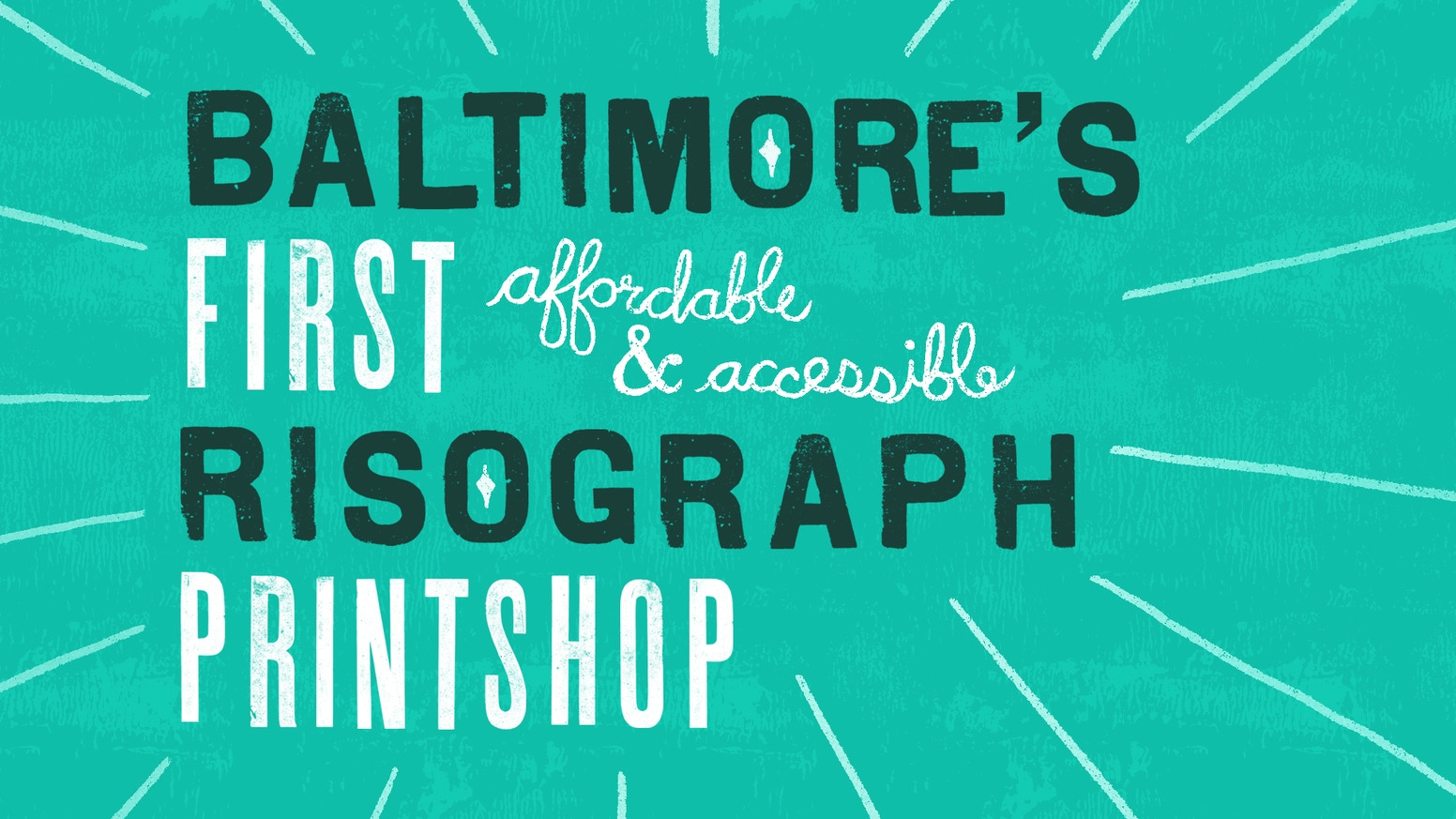 By fixing Ralph (our risograph) we can add risograph printing as a tool for the Baltimore arts community!