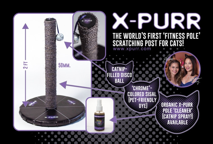 X-Purr Stage Pole - Made by Pole Professionals for Purr Purrfessionals!