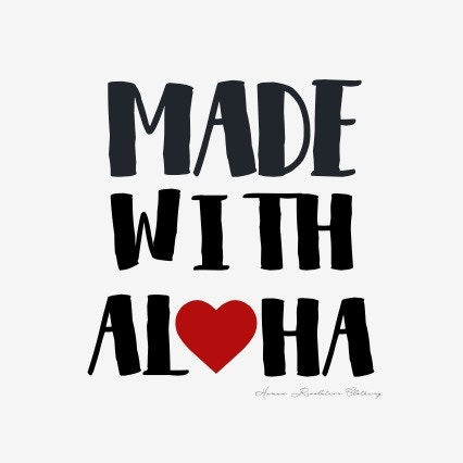 Made With Aloha will be printed on the white onesie and will look similar to this:)