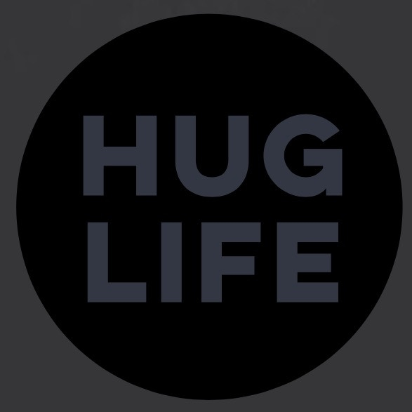Hug Life will be printed on the grey onesie and will look similar to this:)