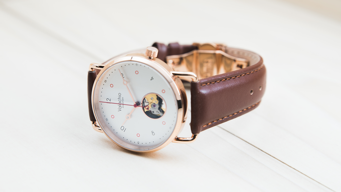 Pumilio with our brown calfskin strap