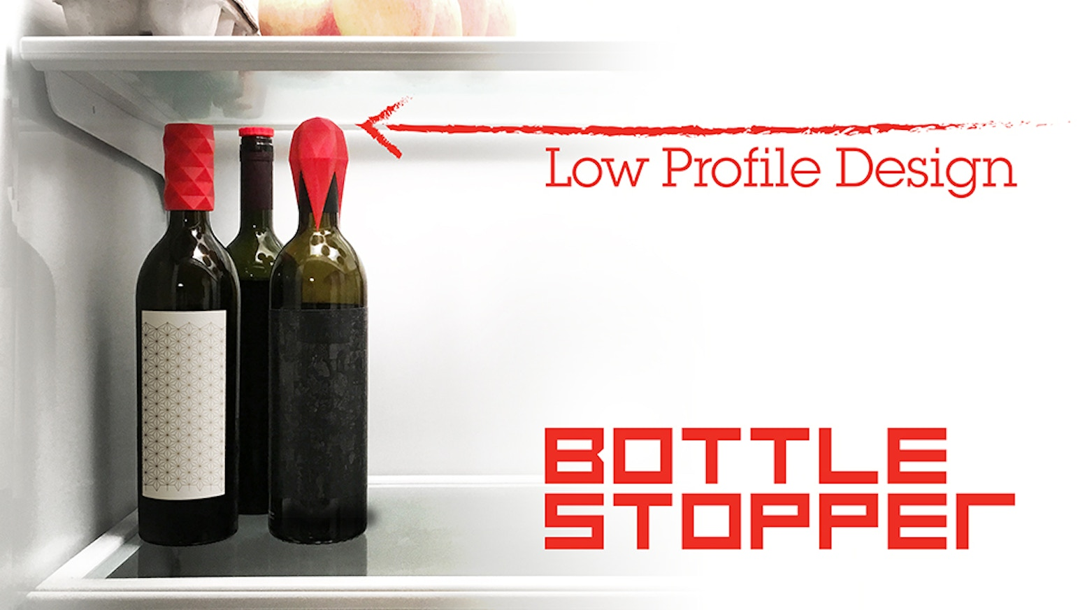 Bottle stoppers with an airtight silicone seal and a low-profile design that allows them to fit in all sorts of tight spaces.