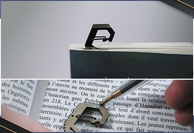 Only 3mm thick, why not use it as a bookmark?